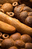 Fresh bread. Close up. Vertical composition stock image