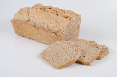 Fresh bread. Bread was baked at home, self-made stock photo