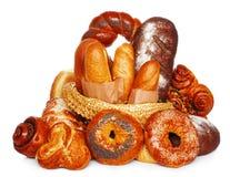 Fresh bread assortment Royalty Free Stock Photos