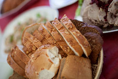 Fresh bread from the bakery. Different kinds of bread from grain Royalty Free Stock Photo