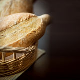 Fresh bread from the bakery. Different kinds of bread from grain Stock Images