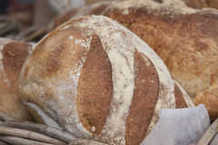 Fresh bread in a bakery Royalty Free Stock Image