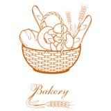 Fresh bread. Bakery products. Bread shop. Bake logo Stock Photo