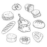 Fresh bread and bakery products Stock Photos