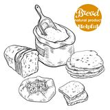 Fresh bread and bakery products Stock Photo