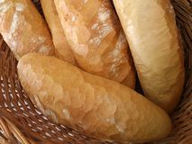 Fresh bread in bakery store Stock Photo