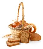 Fresh bread in the basket Royalty Free Stock Photography