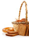 Fresh bread in the basket Royalty Free Stock Image
