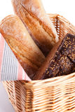 Fresh bread in a basket Stock Photo