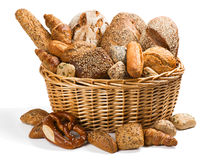 Fresh bread in a basket Stock Image