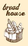 Fresh Bread Basket vector illustration