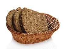 Fresh bread in a basket Royalty Free Stock Photo