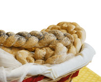 Fresh bread on basket Royalty Free Stock Photography