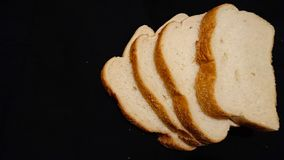Fresh Bread. Bread on a black background royalty free stock photos