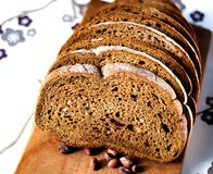 Fresh bread for breakfast stock image