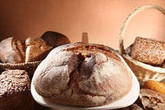 Fresh bread and buns Stock Image