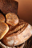 Fresh bread and buns Stock Photo