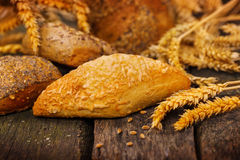 Fresh bread and cereals Royalty Free Stock Image