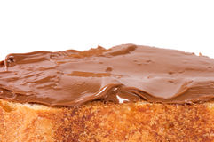 Fresh bread with chocolate paste Stock Photo