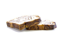 Fresh bread with chocolate thick sliced Stock Image