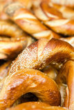 Fresh bread close up. Food background. Baked bread with Whole Wh Stock Images