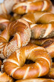 Fresh bread close up. Food background. Baked Stock Photo
