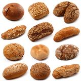 Bread collage on white background. Fresh bread collage on white background Royalty Free Stock Image
