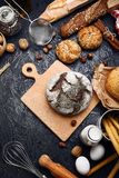 Fresh bread with crispy crust on parchment Royalty Free Stock Photography