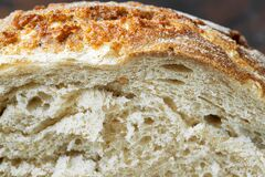 Fresh bread crust close up