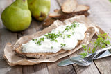 Fresh bread with curd Royalty Free Stock Images
