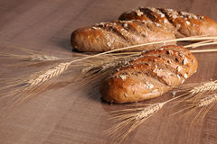 Fresh bread with ears Stock Photography
