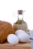 Fresh bread,  eggs,  flour  and  oil Stock Image