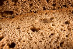 Fresh bread extreme close up stock photos