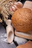 Fresh bread. With garlic and salt Stock Images