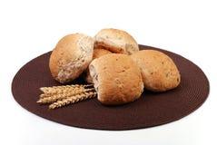 Fresh bread granary rolls Royalty Free Stock Photos