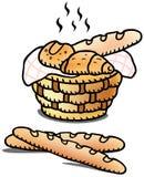 Fresh bread illustration Stock Photo