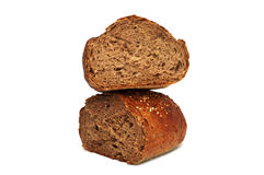 Fresh bread isolated, bread broken Stock Photography