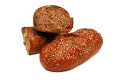 Fresh bread isolated, bread broken Royalty Free Stock Photography