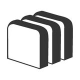 Fresh bread isolated icon in blak and white Stock Image