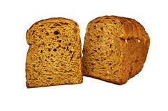 Fresh bread isolated, sliced bread Stock Photos