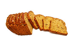 Fresh bread isolated, sliced ??bread royalty free stock photography
