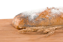 Fresh bread. Isolated on white Stock Photo