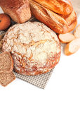 Fresh bread and loaf Royalty Free Stock Image