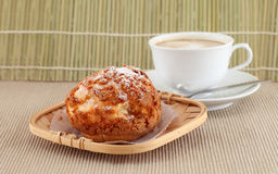 Fresh bread and the morning coffee. Stock Photos