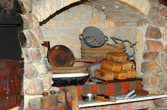 Fresh bread in old bakery Royalty Free Stock Photo