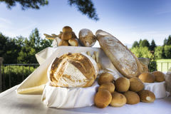 Fresh bread outside Royalty Free Stock Image