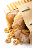 Fresh bread in paper bag Stock Image
