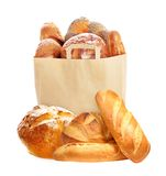 Fresh bread in paper eco bag. Stock Images