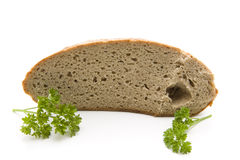 Fresh bread with parsley Stock Photography