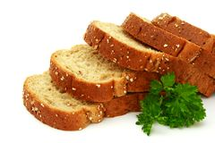 Fresh bread with parsley Royalty Free Stock Photos